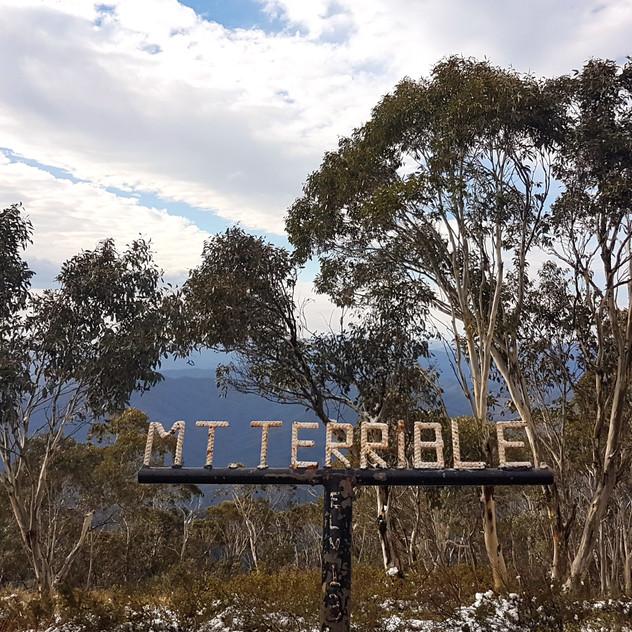 mount terrible in winter no access fee to the snow victoria australia