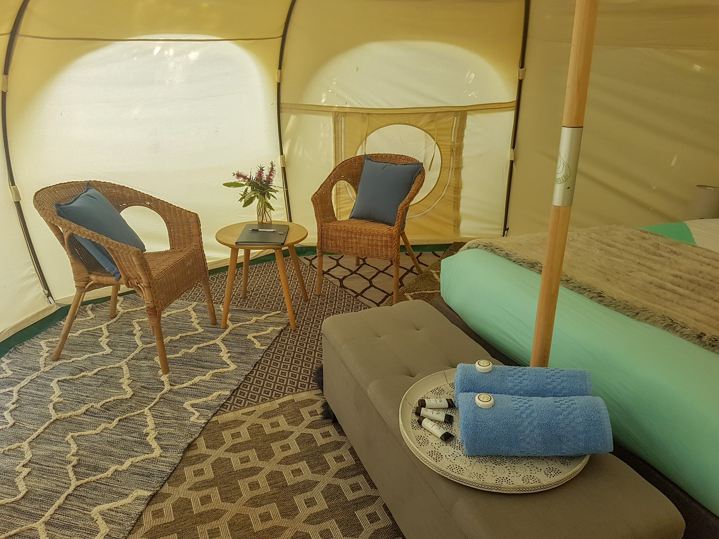 Interior Glamping Tent