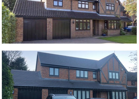 BEFORE AND AFTER FRONT ELEVATION