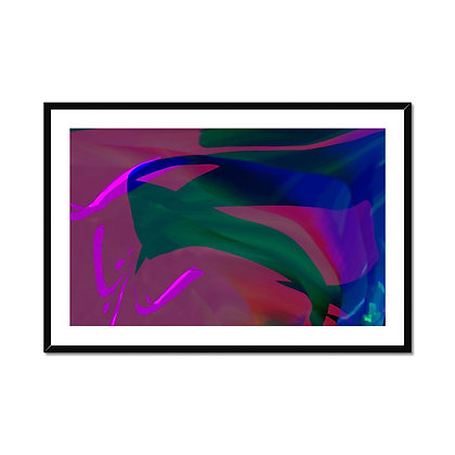 Downstream Framed and Mounted Print