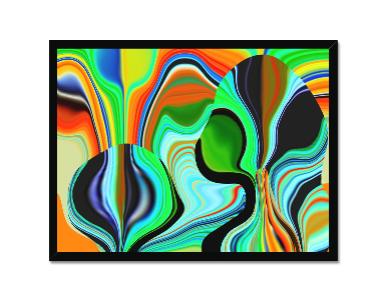 Green Hippy Framed Print
