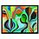 Thumbnail: Green Hippy Framed Print