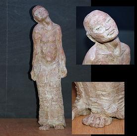 307-SERIE HUMAN-TETE PENCHEE-51x15cm-Sculpture-Bronze numéroté-2500Eu.jpg