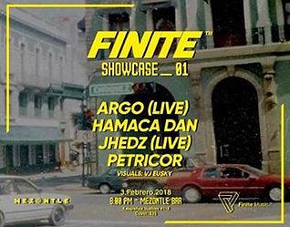 finite showcase flyer