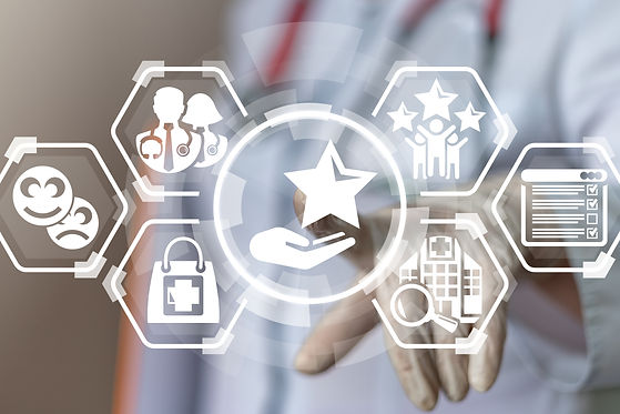 Customer experience CX medicine service.