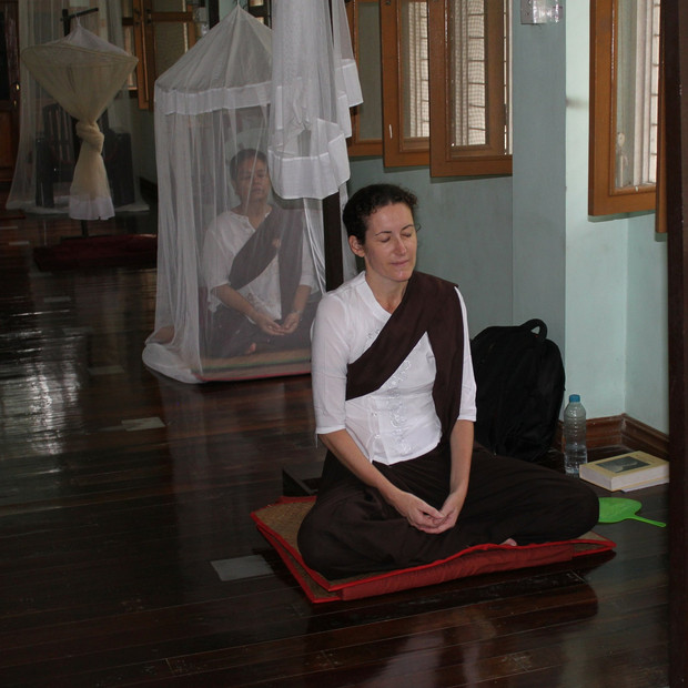 Meditating in Shwe Oo Min Monestary in Myanmar where I spent three months under the guidance of Sayadaw U Tejaniya.