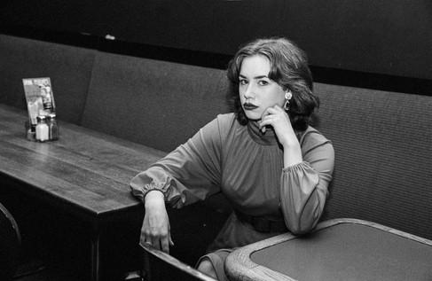 Mikayla at The Ironwood - B&W 35mm