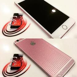 iPhone 6+ Custom Pink Swarovski Crystal Frame Swap