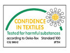 Un certain nombre de nos produits sont certifiés Oeko-tex notamment l'ensemble des transferts et un certains nombre de textiles