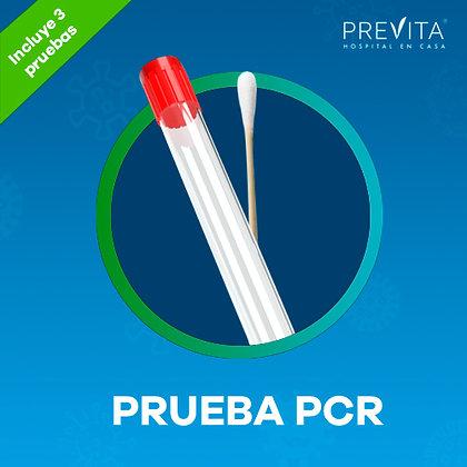 Paquete de 3 Pruebas COVID-19 PCR a domicilio