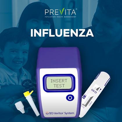 Paquete de 3 pruebas rápidas de diagnóstico deinfluenzaa domicilio