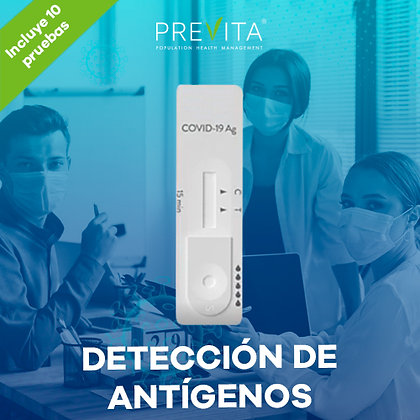Paquete Grupal de 10 Pruebas Rápidas de Detección de Antígenos COVID-19