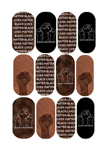 BLM Nail Decals
