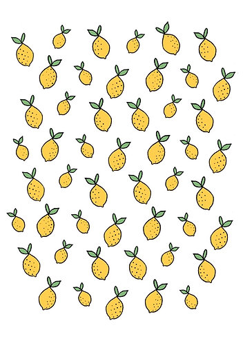 Lemon Nail Decals