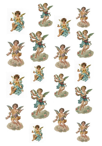 Cherub Nail Decals