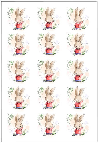 Bunny Nail Decals