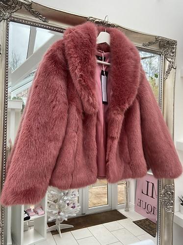 Dusty Pink Fur Coat
