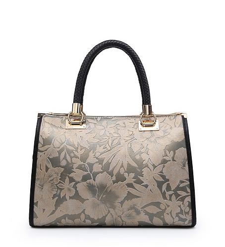 CML Plant Embossed Handbag