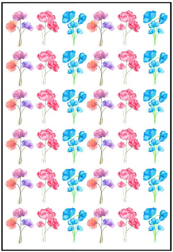 Watercolour Flowers Nail Decals