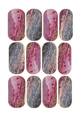 Cherry Crystal Nail Decals