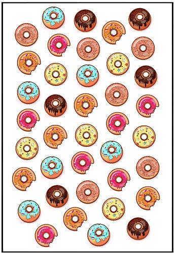 Doughnut Nail Decals 2
