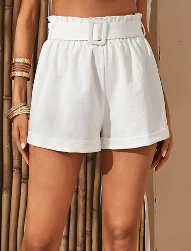 White Paper Bag Shorts