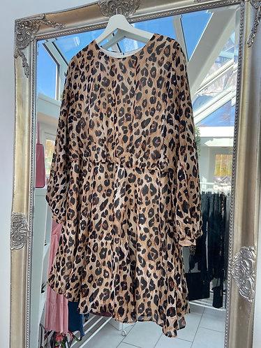 Animal Print Skater Dress