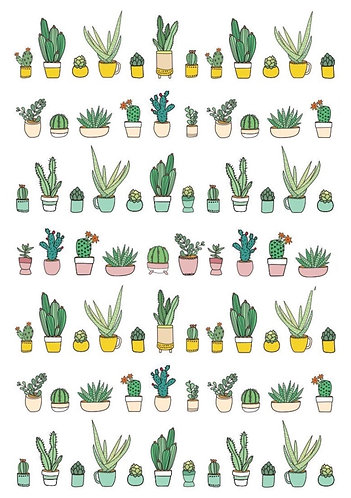 Potted Plant Nail Decals