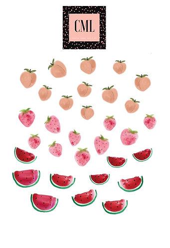 Mixed Fruit Nail Decals