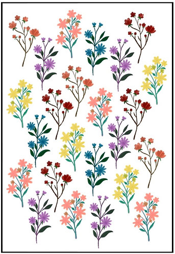 Floral Nail Decals 2