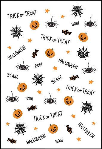 Cute Halloween Nail Decals