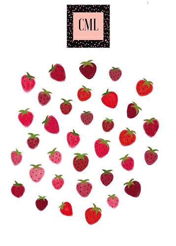 Strawberry Nail Decals