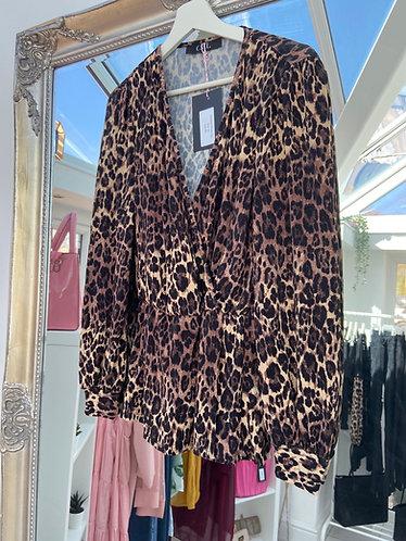 Leopard Wrap Top