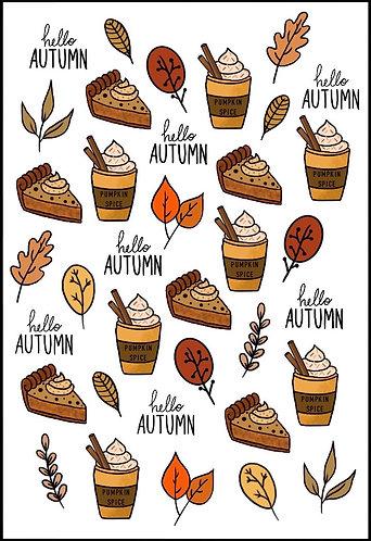 Autumn Nail Decals