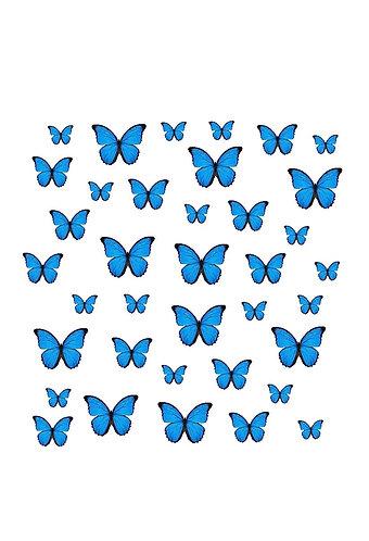 Blue Butterflies Nail Decals