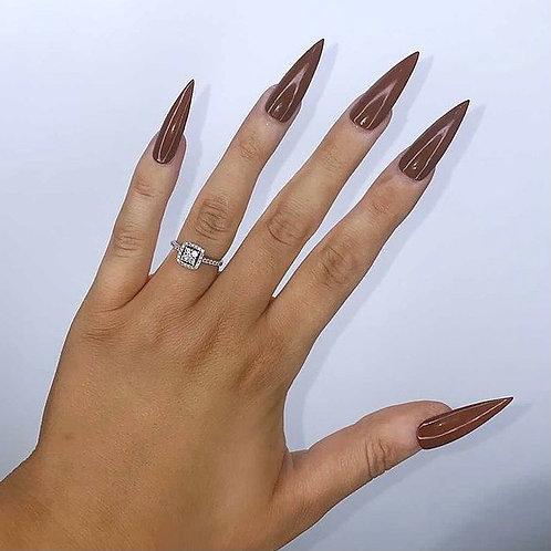 Brown Stiletto Nails