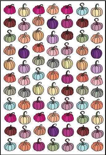 Colourful Pumpkin Nail Decals