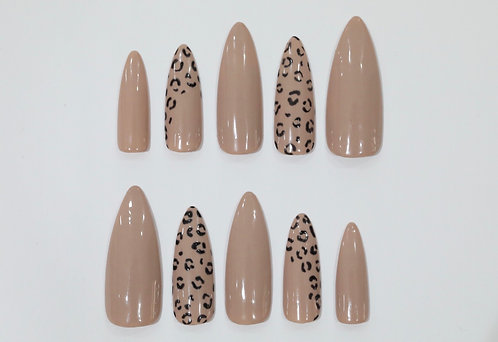 Ready to Ship - Leopard Print Nails