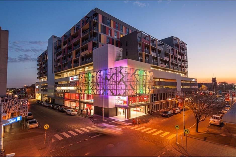 Footscray Plaza - Artwork Lighting
