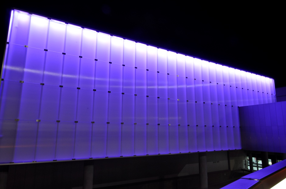 New Virgin Lounge - Facade Lighting