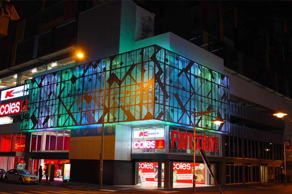 Footscray Plaza - Artwork Lighting
