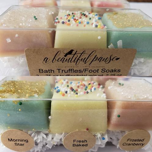 Cocoa Butter Bath & Foot Soak Trios