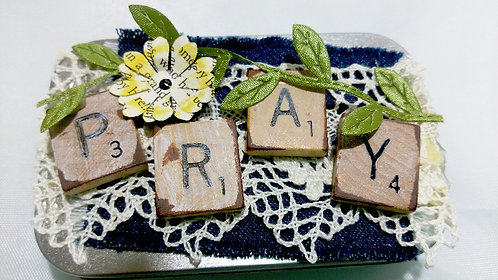 Prayer Box w/Scrabble Letters