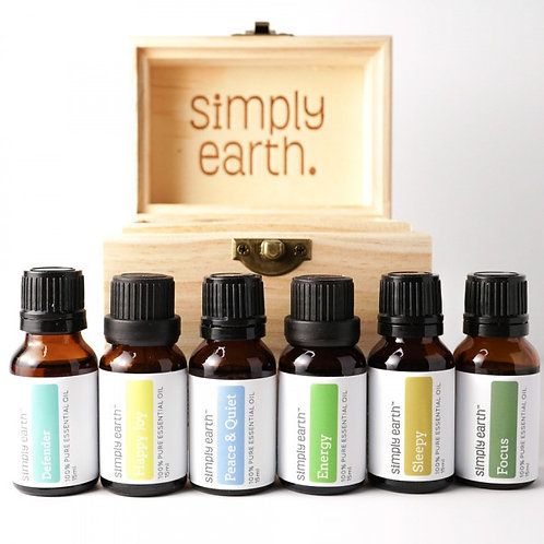 Boxed Set of 6 Popular Essential Oil Blends