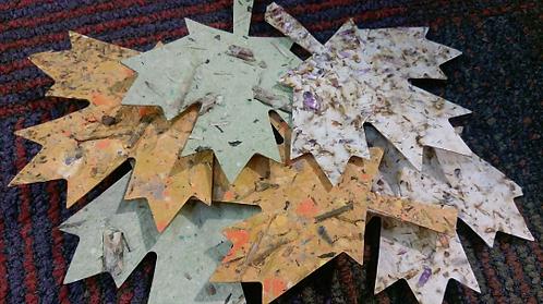 Handmade Paper ThankfulLeaves