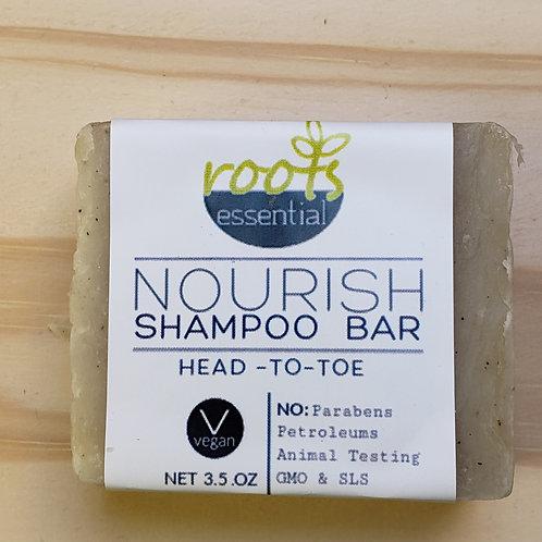 Nourish Shampoo Bar with Lavender & Rosemary Essential Oils