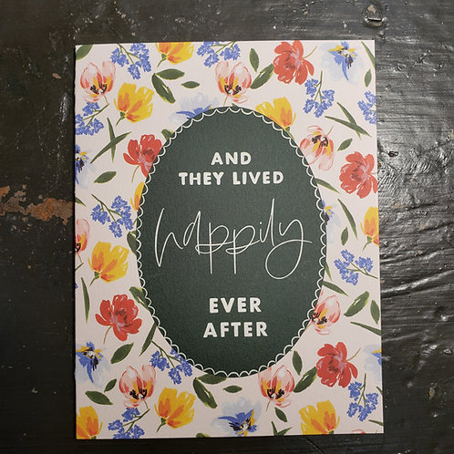 """""""And They Lived Happily Ever After"""" - Wedding Card"""