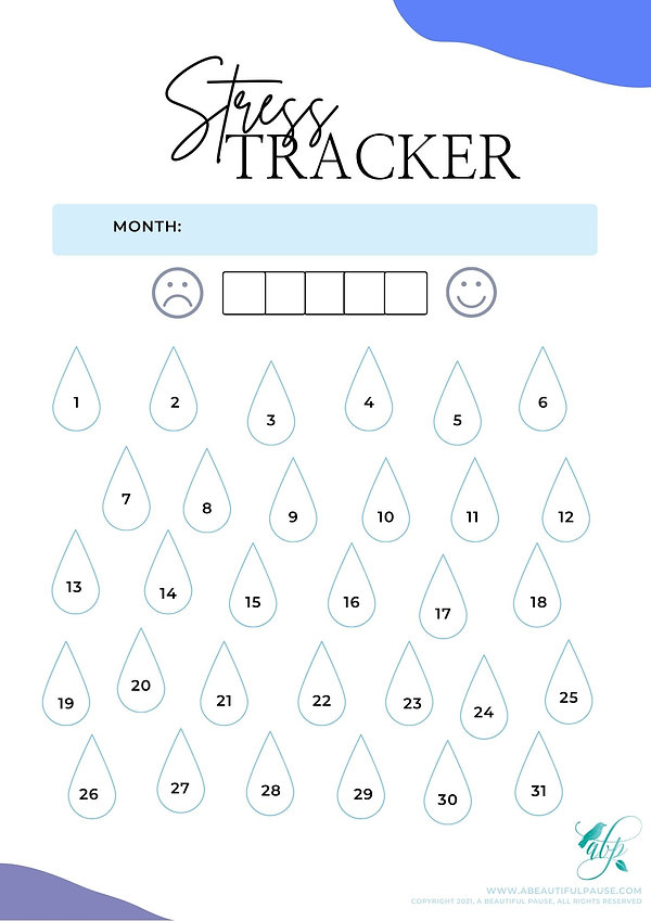 Stress Tracker for self care created for