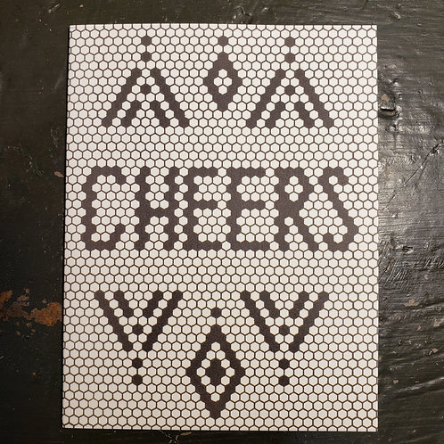 """Cheers"" - Retro Black & White Tile Card"