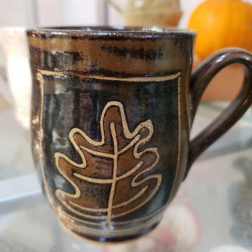 Hand-crafted Leaf Mug